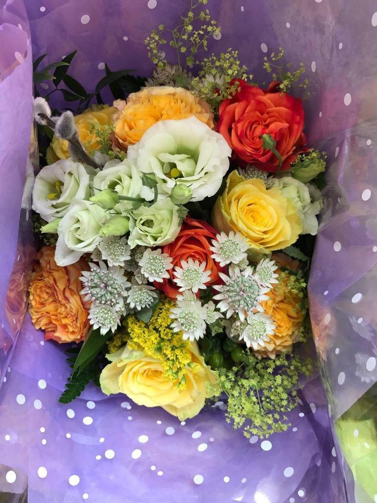 Orange, Yellows and Creams bouquet