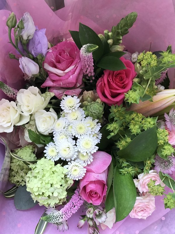 Pinks and Creams bouquet