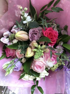 Pinks, Purples and Whites bouquet