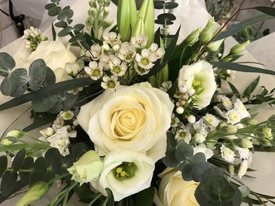 Cream and Greens bouquet