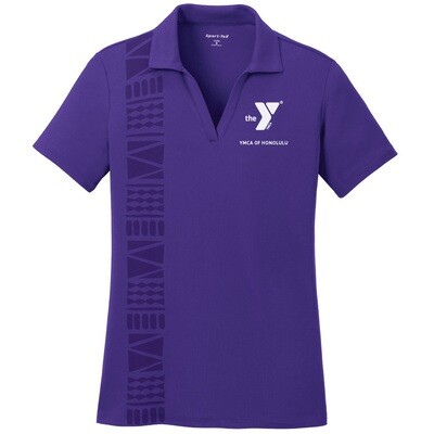 YMCA Honolulu - Ladies Posicharge Staff Polo - Purple(LST640)