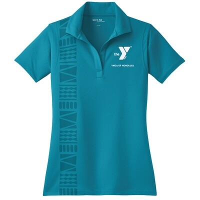 YMCA Honolulu - Womens Staff Micropique Sport-Wick Polo - Tropic Blue(LST650)