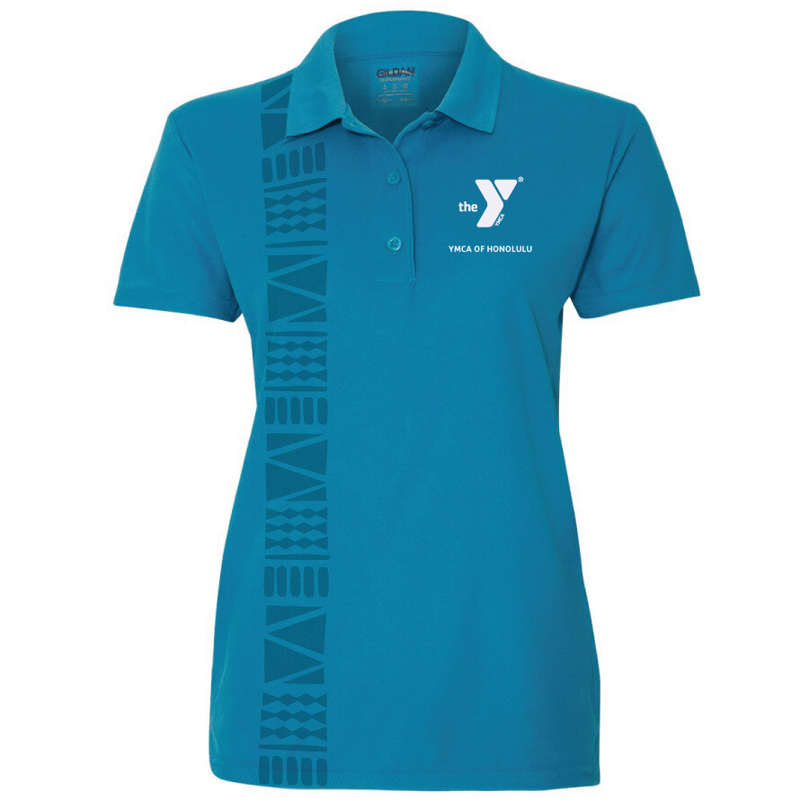 YMCA Honolulu - Womens Staff Gildan Performance - Sapphire Blue(G458L)