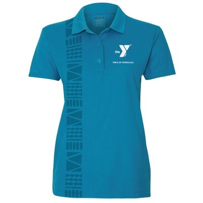 YMCA Honolulu - Womens Staff Gildan Performance - Sapphire Blue(G458L)
