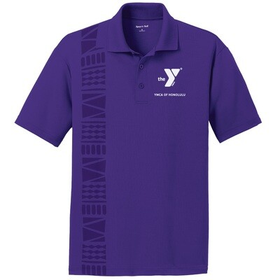 YMCA Honolulu - Mens Posicharge Staff Polo - Purple(ST640)