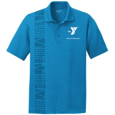 YMCA Honolulu - Mens Staff Gildan Performance - Sapphire Blue(G458)