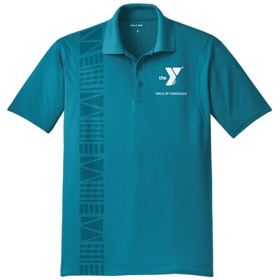 YMCA Honolulu - Mens Staff Micropique Sport-Wick Polo - Tropic Blue(ST650)