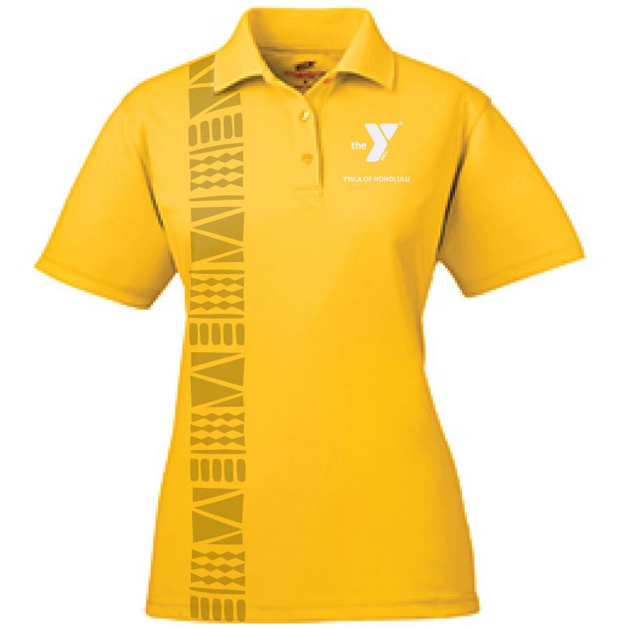 YMCA Honolulu - Womens UltraClub Polo - Gold(8210L)