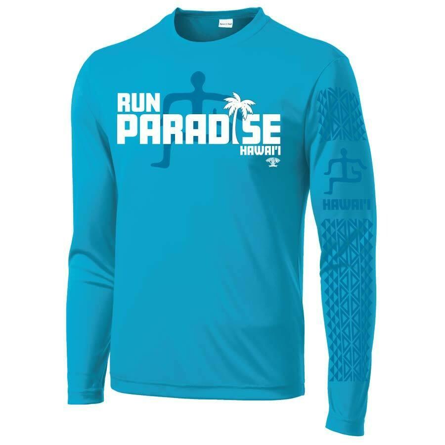 Run Paradise - Mens Tribal Pattern Long Sleeve T-Shirt (ST350LS)