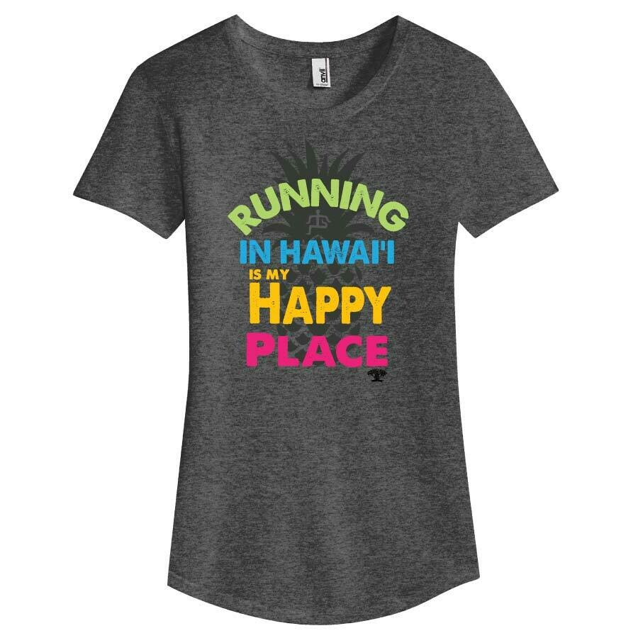 Run Paradise - Happy Place Womens T-Shirt (6750L)