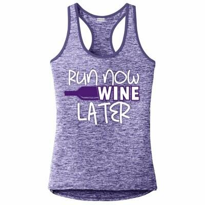 Run Paradise - Run Now Wine Later Womens Tank Top (LST396)