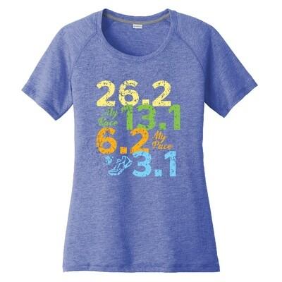 Run Paradise - Distances Womens T-Shirt (LOE320)
