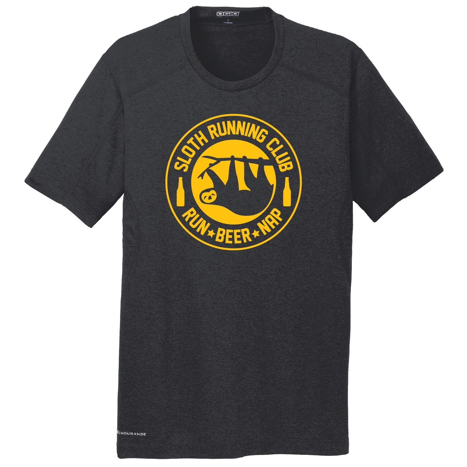 Run Paradise - Mens Sloth Running Club (Beer) Shirt (OE320)