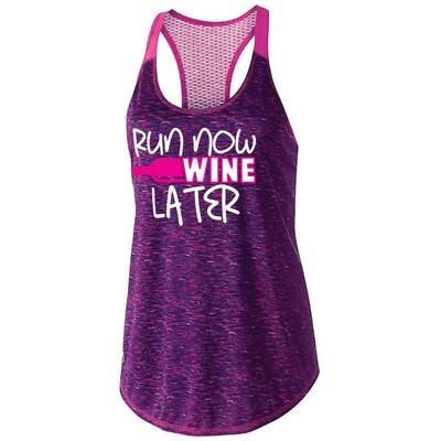 Run Now Wine Later Womens Tank Top (222733)