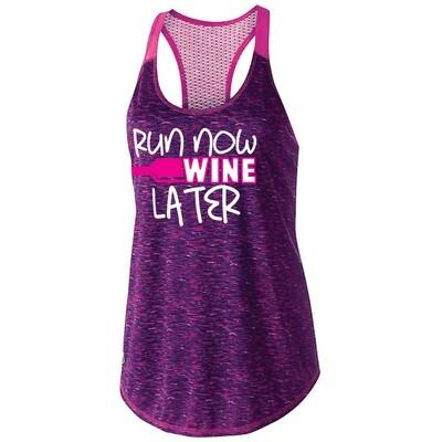 Run Now Wine Later Womens Tank Top (222733)