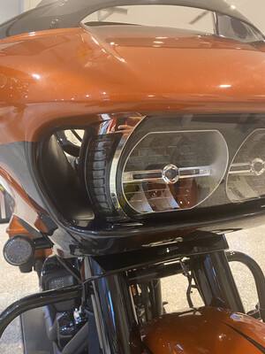 Chrome Road Glide Headlight Running light/Turn Signals