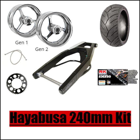 Hayabusa 240mm Stocker Fat Tire Kit