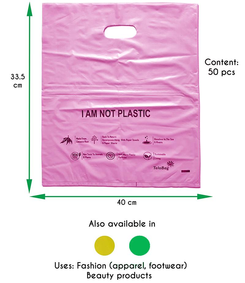 TeloBag Oval Handle Carrier Bag (Pink)