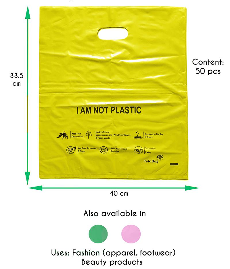 TeloBag Oval Handle Carrier Bag (Yellow)