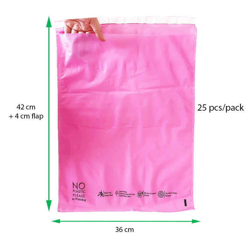 Pink TeloBag Size 36 Mailer/Document Pouch (Polymailer Replacement)