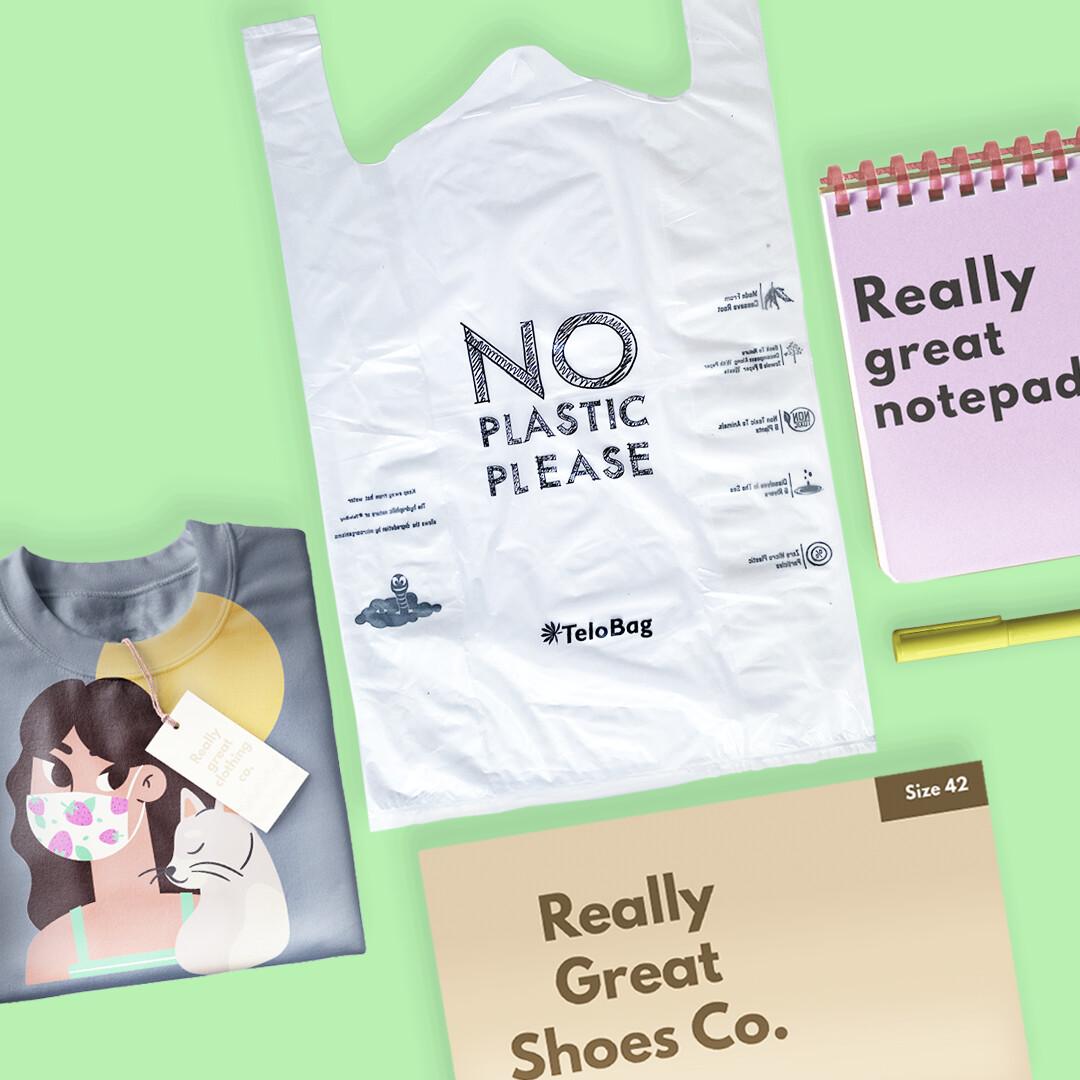 TeloBag Size L 30 Packaging/Trash T-Shirt Bag