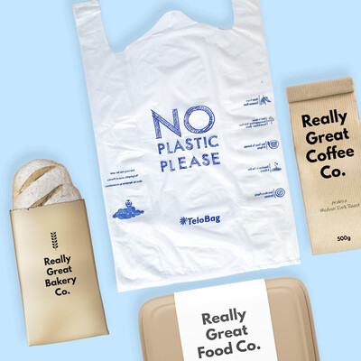 TeloBag Size M 28 Packaging/Trash T-Shirt Bag