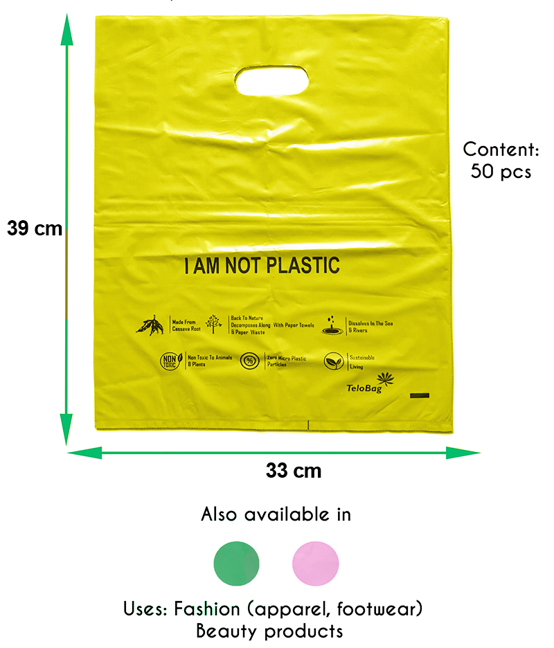 TeloBag Oval Handle Carrier Bag (Yellow)