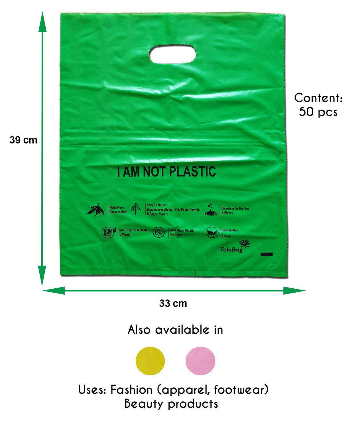 TeloBag Oval Handle Carrier Bag (Green)