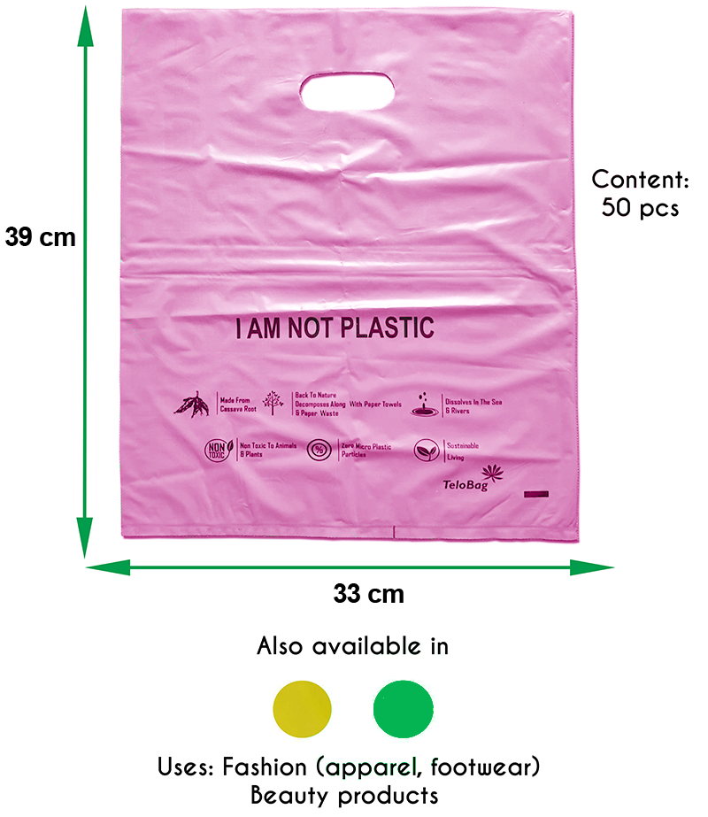 TeloBag Oval Handle Carrier Bag (Pink)