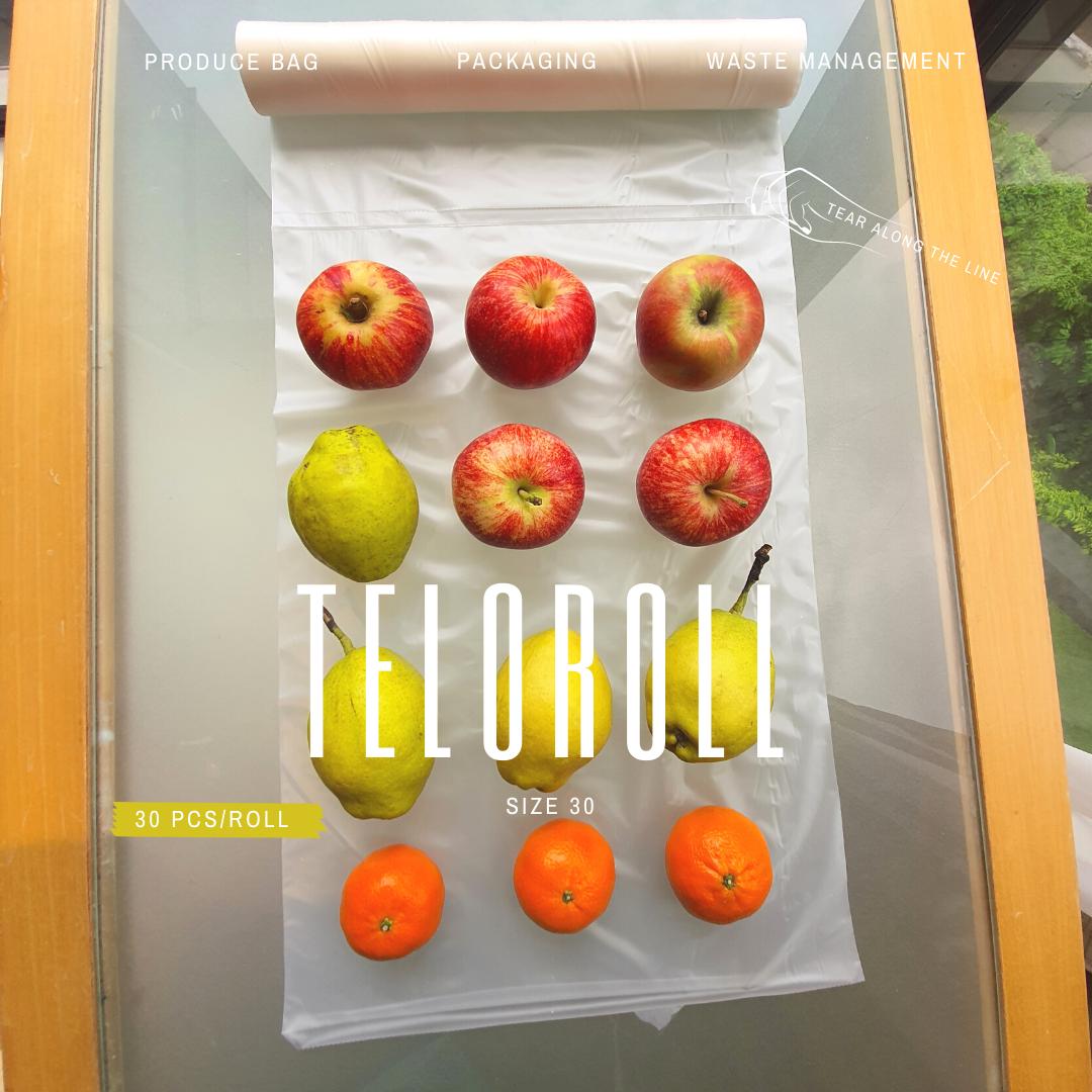 TeloRoll Size 30 Multipurpose Perforated Produce Bag