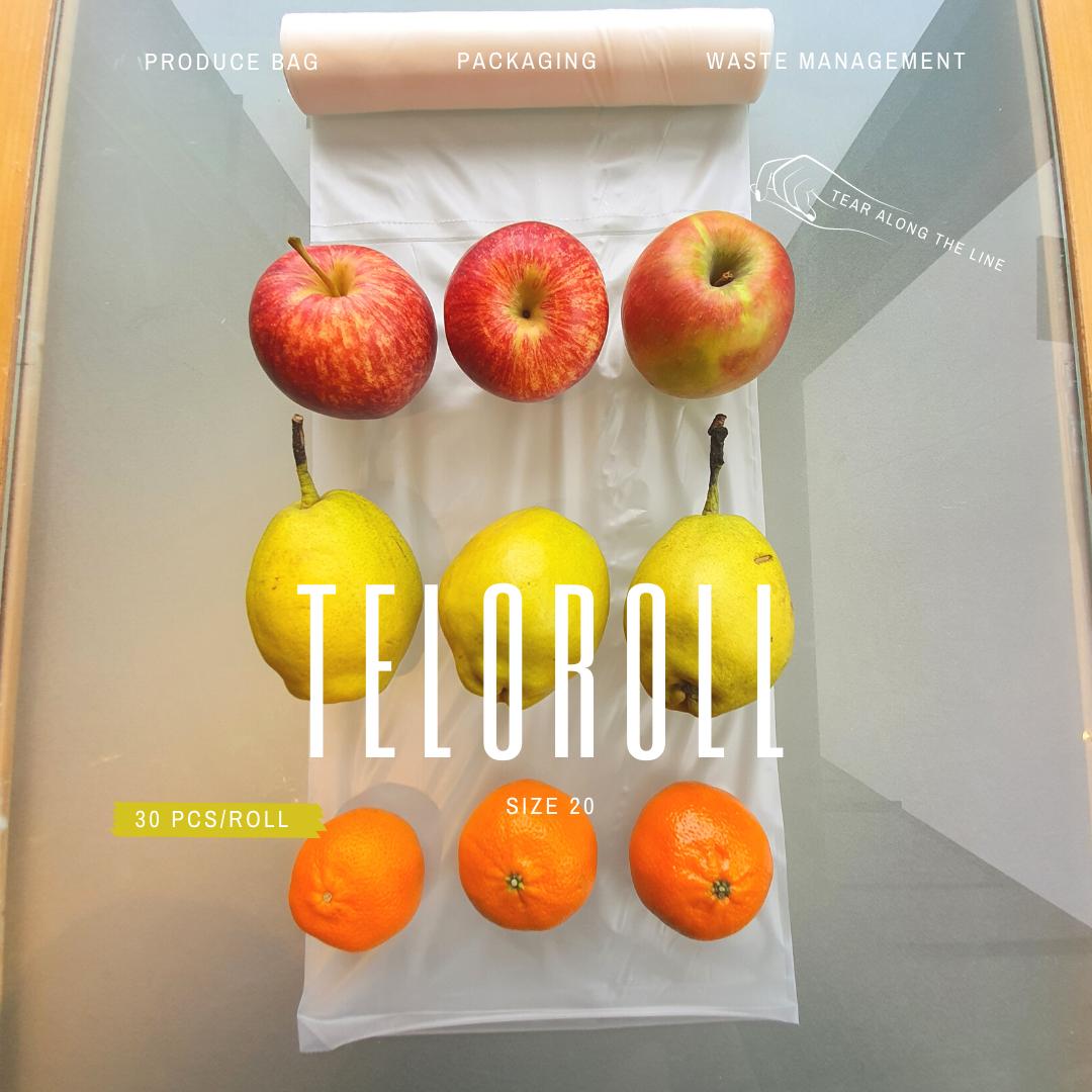 TeloRoll Size 20 Multipurpose Perforated Produce Bag