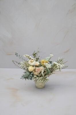 White & Sage Vase Arrangement