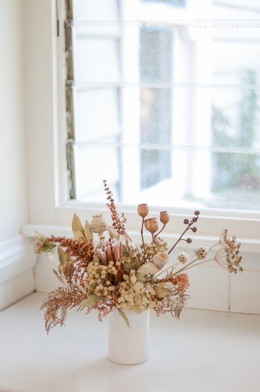 Neutrals in a Marble Vase