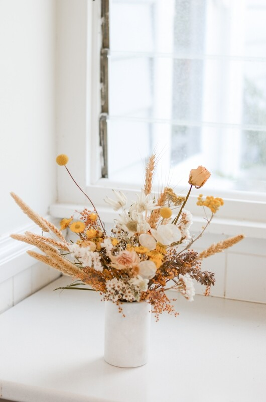 Daisy Field in a Marble Vase