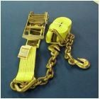 "Ratchet strap with chain extensions 3""X30'"