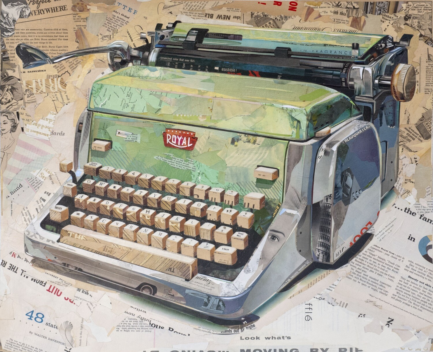 """Royal Typewriter in Green""  print     2015"