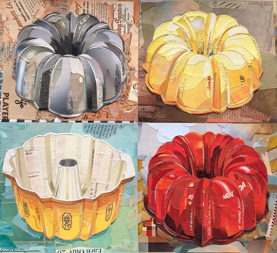 """""""Four Bundt Pans"""" print   2018"""