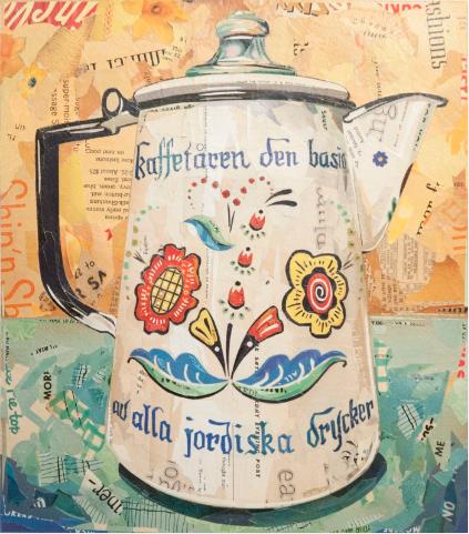 """""""Berggren Enamel Coffee Kettle""""  print     2015"""