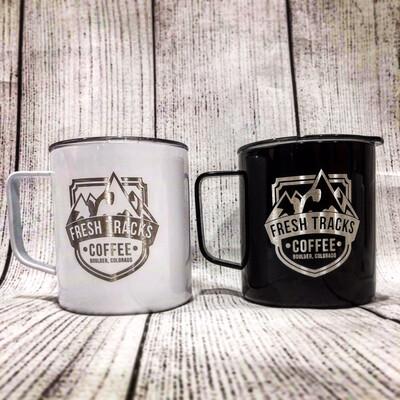 Fresh Tracks Coffee Camp Mug (White)