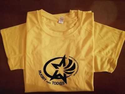 Camiseta técnica Rugby amarilla