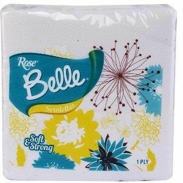 BOULOS BEL SERVIETTE 1 PLY 33X33CM 50'S
