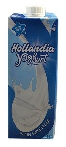 HOLLANDIA YOGHURT PLAIN SWEETENED 1L