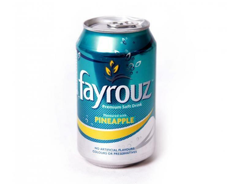 FAYROUZ PINEAPPLE SOFT DRINK SLEEK CAN 33CL