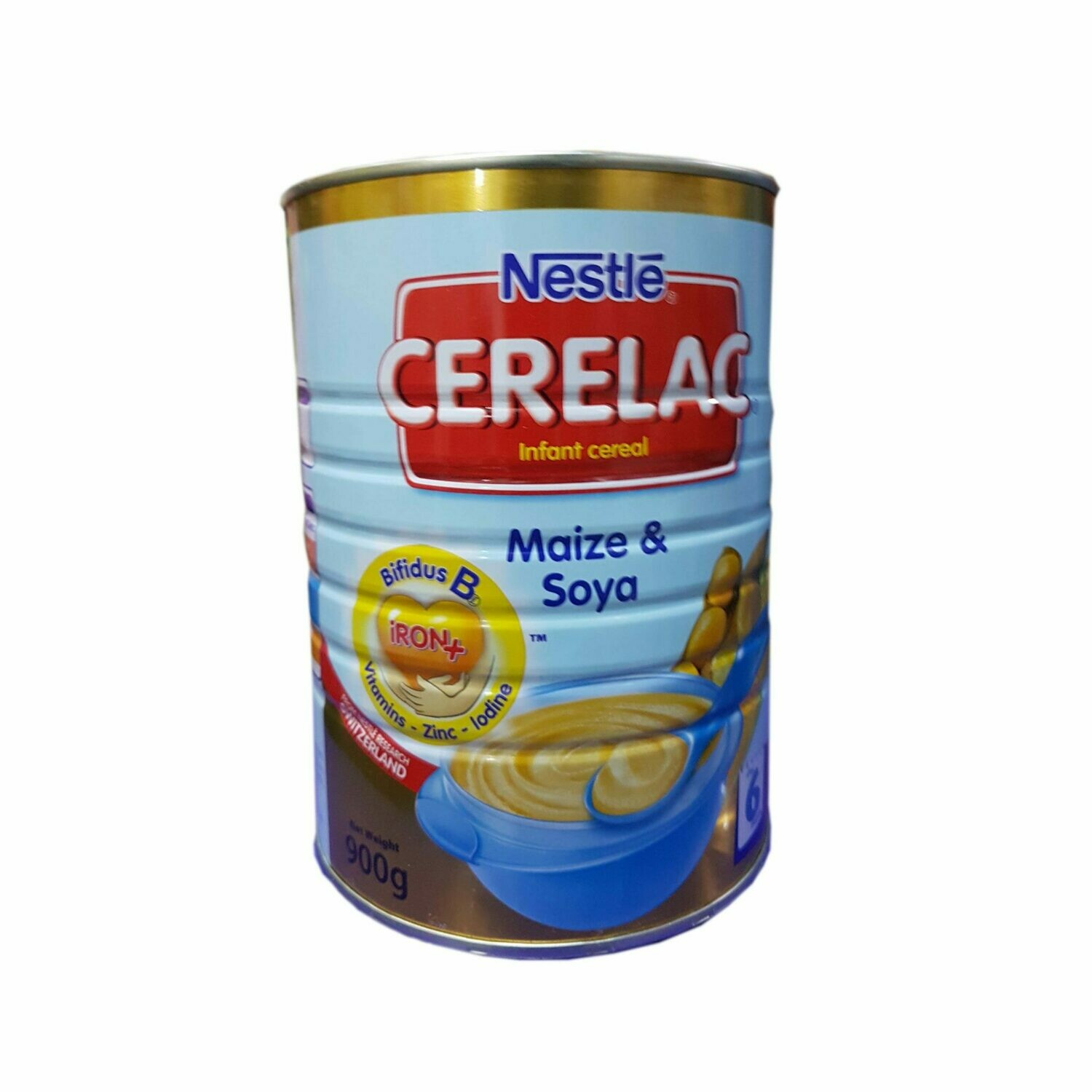 NESTL� CERELAC MAIZE & SOYA 900G TIN