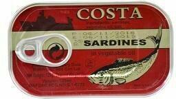 COSTA SARDINES IN VEGETABLE OIL 125G