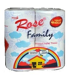 BOULOS ROSE PLUS TWIN PACK SOFT WHITE TISSUE 2 ROLLS 3 PLY