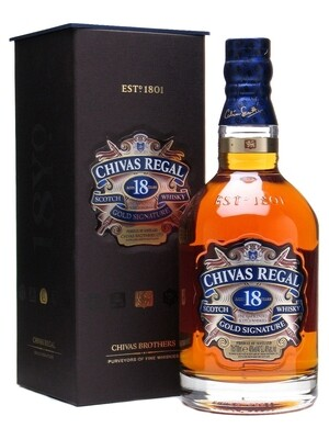 CHIVAS REGAL 18 YEAR OLD WHISKY 70CL