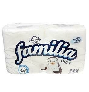 FAMILIA ULTRA STRONG & ABSORBENT 3PLY 2 TOILET ROLLS WHITE