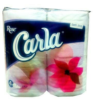 ROSE CARLA 4 TOILET ROLLS 2 PLY