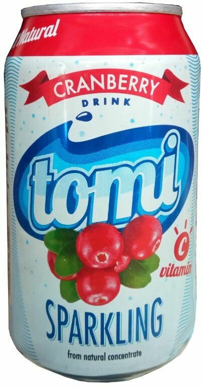 TOMI CRANBERRY SPARKLING DRINK CAN 330ML